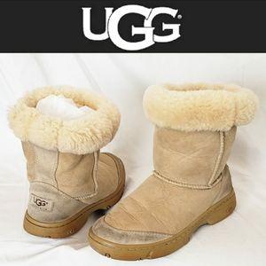 UGG Brown Tan Fur Boots